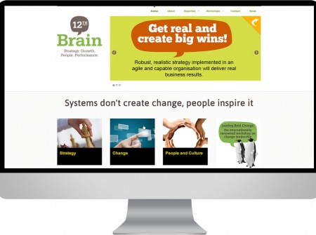 12th Brain Brisbane based Change Consultants web design custom wordpress project