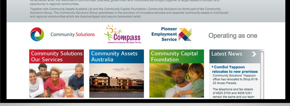 Community Solutions Sunshine Coast Queensland web design Wordpress project for this non government organisation building community capital