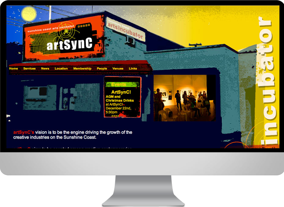 Sunshine coast arts incubator Arstync in Nambour used this animated graphic design seo websiteproject by working planet