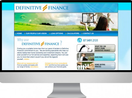 Definitive Finance is a Sunshine Coast Calounda based loan consultant broker using working planet web design & development services