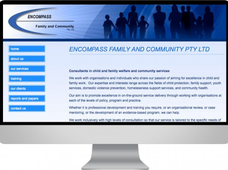 Encompass Brisbane community social work interactive website seo design queensland