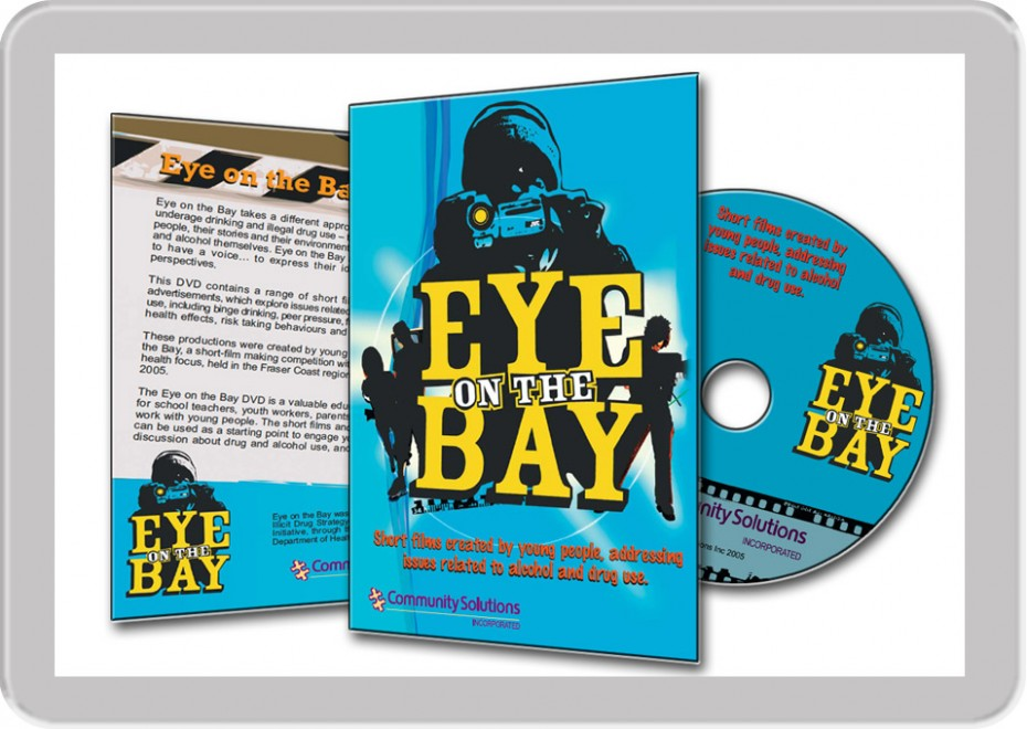 Hervey Bay young people film festival project Eye on the Bay multimedia DVD CDrom design