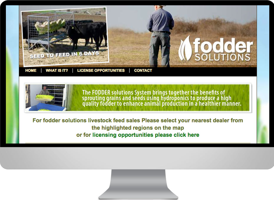 Fodder Solutions Toowoomba Queensland manufacturing web site design Australia