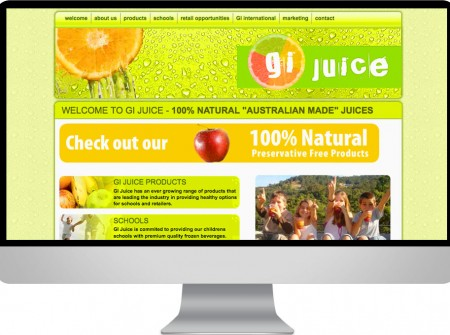 GI juice Gold Coast manufacturing website graphic design project for queensland business