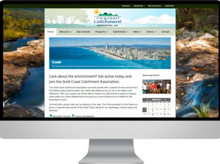 Gold Coast Catchments website design not for profit projectdevelopment