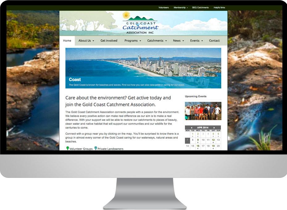 Gold Coast Catchments website design not for profit projectdevelopment