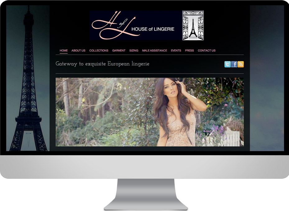 sunshine coast based e-commerce wordpress custom website for House of Lingerie shopping cart