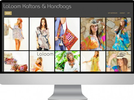 Ecommerce reponsive wordpress online store website design and seo project for sunshine coast based laloom kaftans