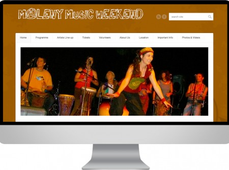 Maleny Music Weekend on the Sunshine Coast is a wordpress festival design website and graphics
