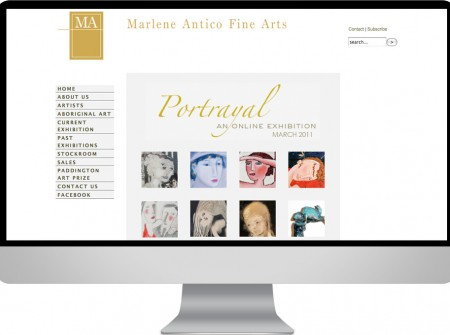 Joomla website design construction for Marlene Antico a Sydney art dealer and collector who is responsible for creating the Paddington Art Prize alsomaintained by Working Planet