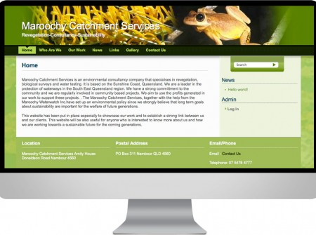 Working Planet for Maroochy Catchment Services is  a Sunshine Coast based environmental organisation with a wordpress customisation website design