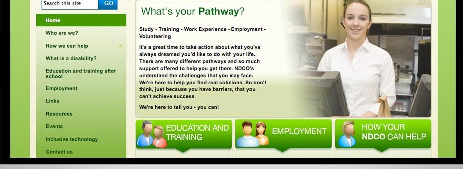 NDCO Queensland Wide Bay disability-employment-program-graphic-website-design-wordpress-media