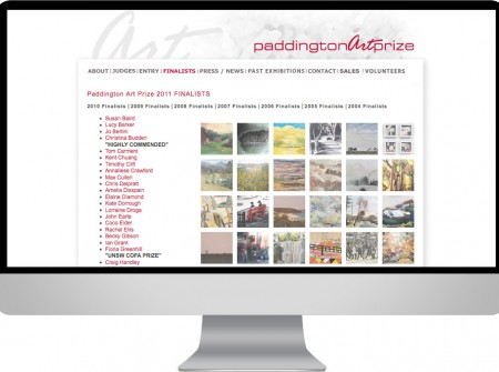 Paddington Art Prize is annual australian landscape competition website design sydney with online entry