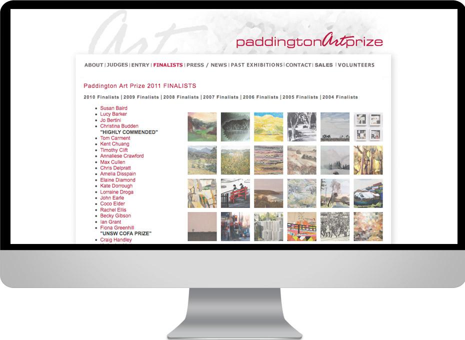 Paddington Art Prize is annual australian landscape competition website design sydney with online entry