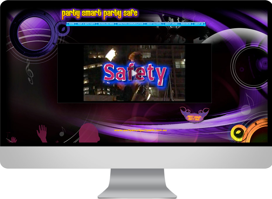 Called Party Smart Party Safe this Community Solutions project  is a drug education website developed and  designed  on the sunshine coast by working planet