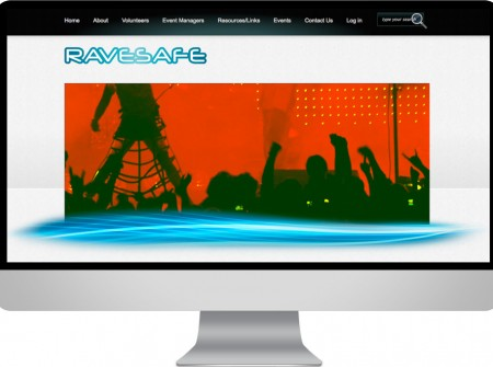 Using a wordpress website design this organisation called Ravesafe provides community youth education and support  for  festivals and dance events and is  based on the Sunshine Coast Queensland.