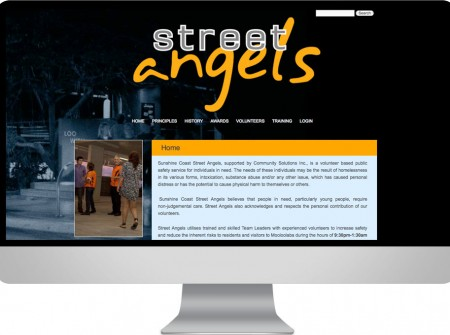 Street Angels community website Sunshine Coast youth program wordpress development