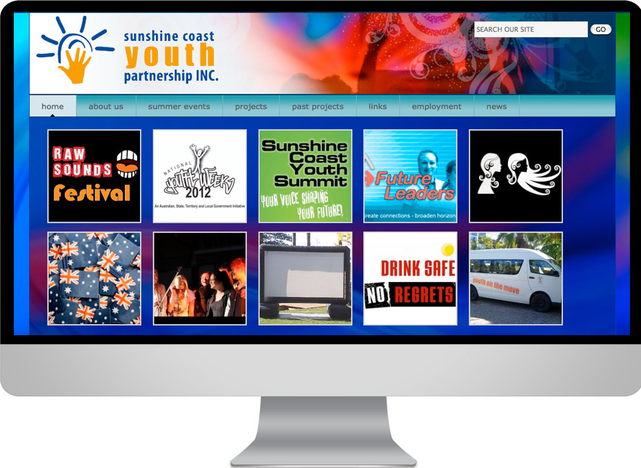 Sunshine Coast Youth Partnership provides education and support services using a wordpress website