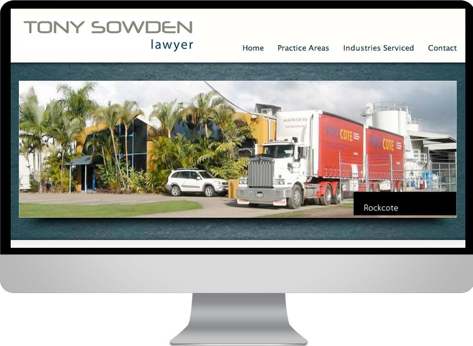 Tony Sowden is a Sunshine Coast lawyer who uses a custom Wordpress website designed by Working Planet