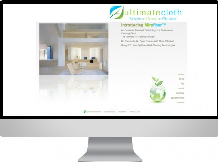 Client managed design media and graphics project for small sunshine coast based business website client Ultimate cloth mira fibe
