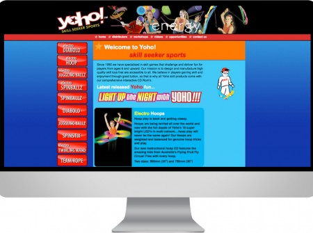 Yoho Brisbane Queensland based toy design and manufacturing web site design