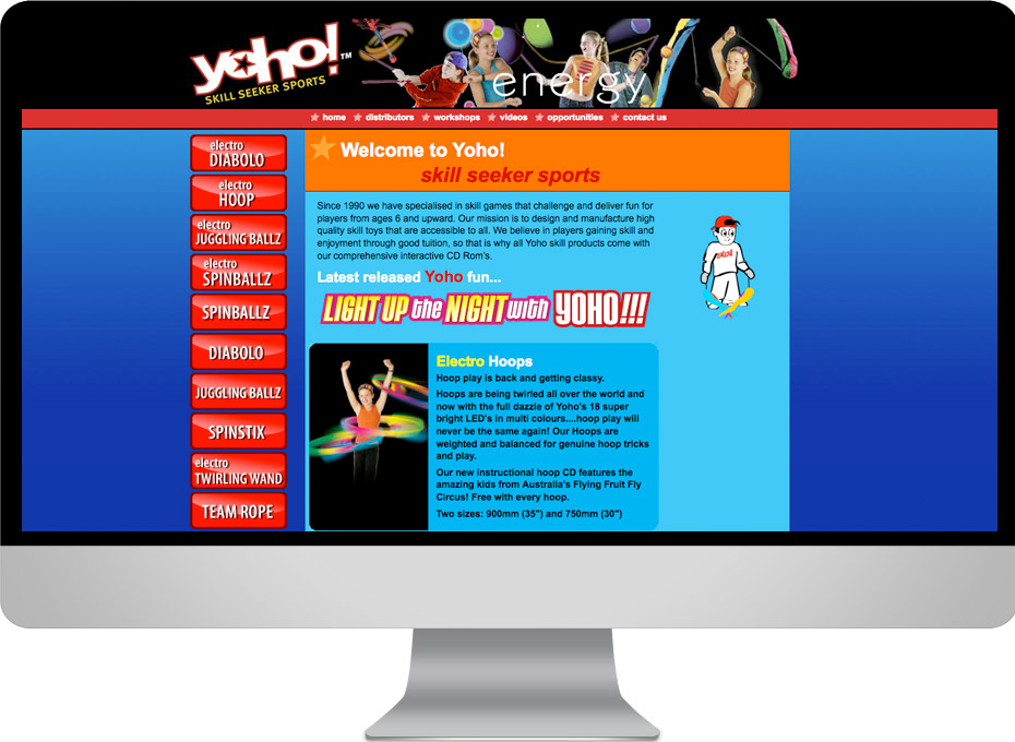 Yoho Brisbane Queensland based toy design and manufacturing web site design