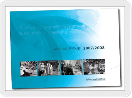 sunshine coast design and print for commuity solutions annual report