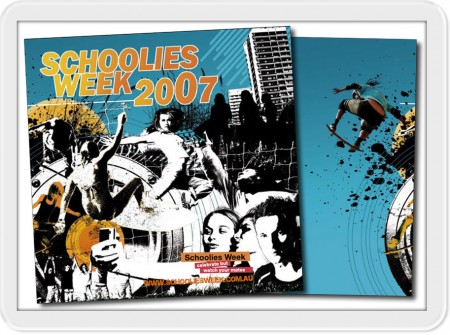 queensland book design graphics development print for 2007 schoolies week