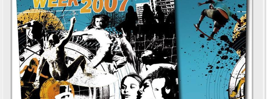 queensland book design graphics development print for 2007 schoolies week