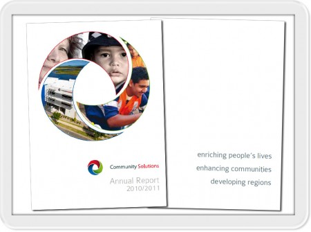 2011 annual report graphic print design business sunshine coast