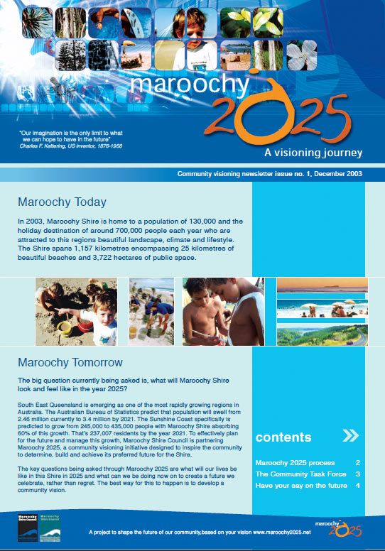 sunshine coast vision graphic design printing for 2025 maroochydore newsletter