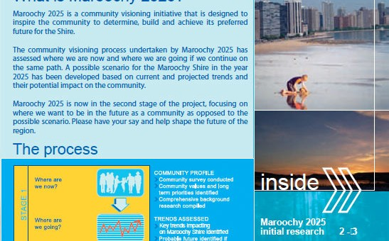 sunshine coast vision graphic design printing for 2025 maroochydore newsletter brochure