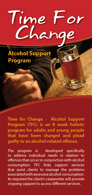 graphic-print design flyer sunshine coast alcohol support program