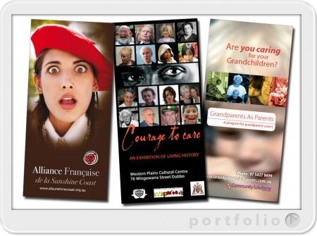 flyers for the arts and community sectors