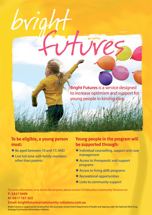 print poster graphic design for bright futures sunshine coast project