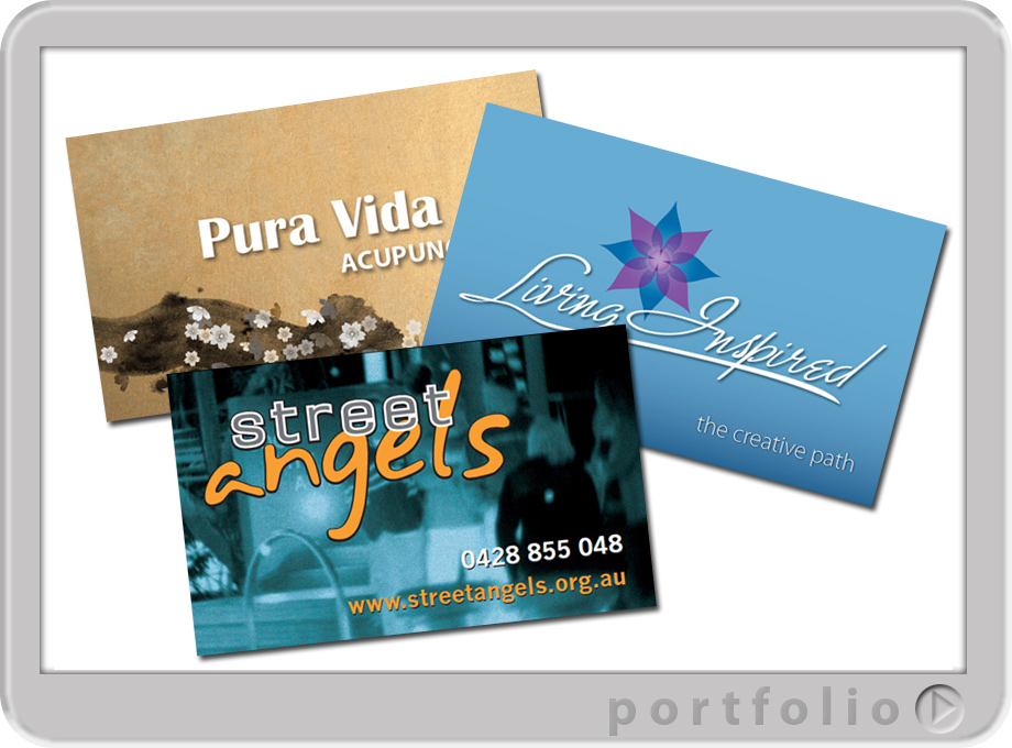 Production of graphic designed business cards printing on the sunshine coast