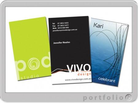 vertical designed printed sunshine coast business cards