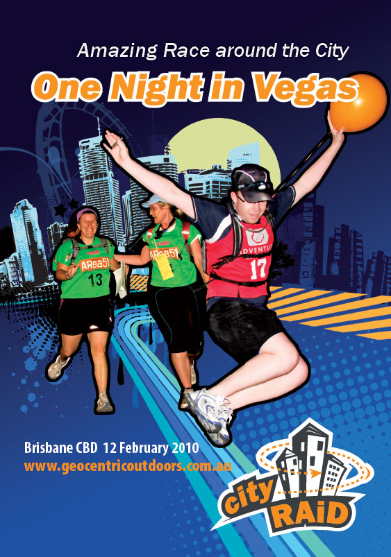 print graphic design flyers sunshine coast for brisbane cityraid 2009 sports events