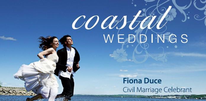sunshine coast design print project for coastal weddings business card