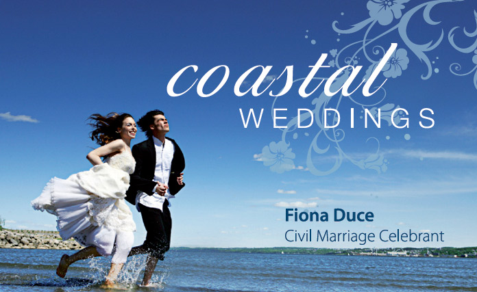sunshine coast design print project for coastal weddings business card