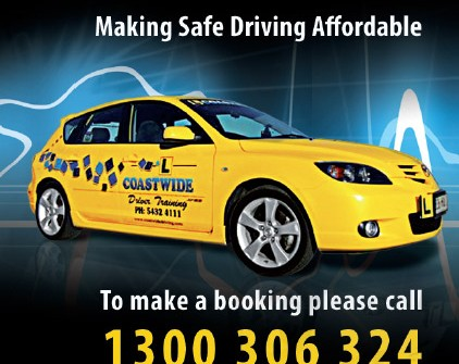business card design print sunshine coast project for coastwide driving school