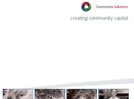 corporate marketing brochure graphic design sunshine coast print project for community solutions