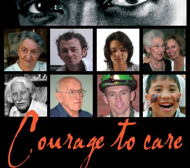 print design graphics invitation for courage to care dubbo