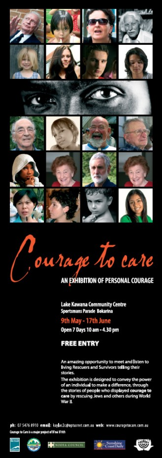 sunshine coast print graphic design project for courage to care poster