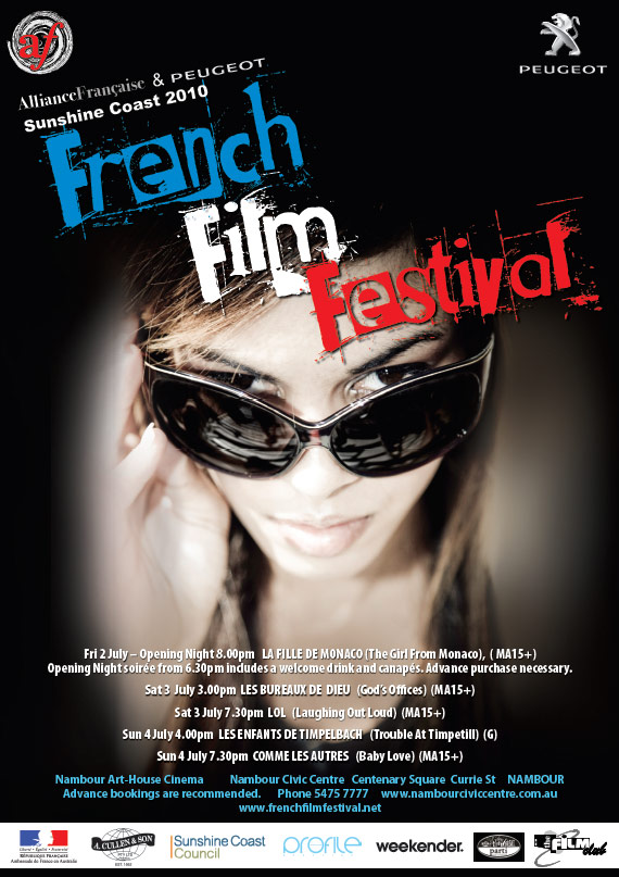 sunshine coast print design graphic project for french film festival 2010