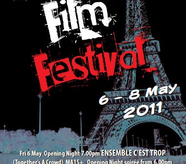 sunshine coast print design flyer for french film festival 2011