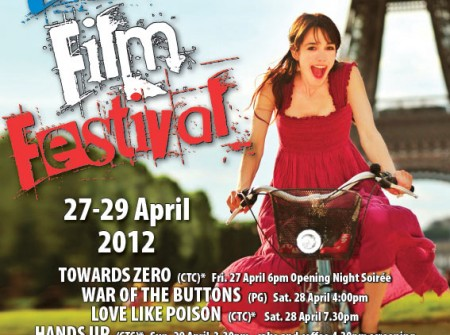 sunshine coast print design flyer for french film festival 2012