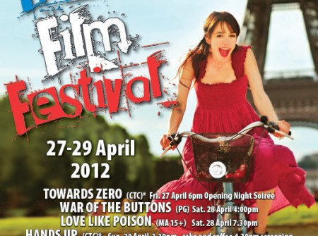 poster french film festival design graphic project publish sunshine coast