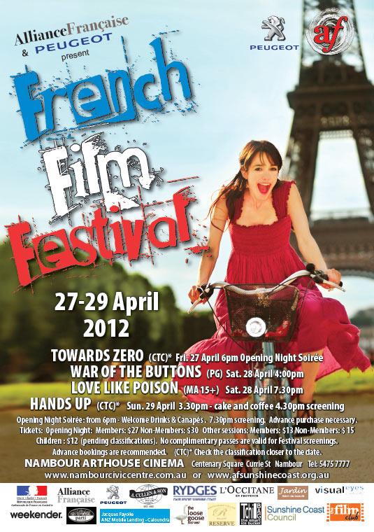 poster french film festival design graphic project publish sunshine coast