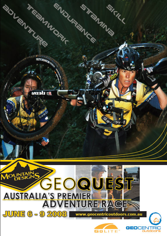 poster design sunshine coast for geoquest sports event